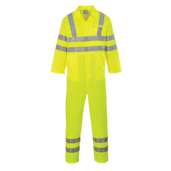 Poly-Cotton-Coverall-Yellow