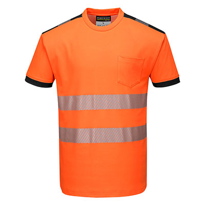 Hi Vis T-Shirt Orange/Black
