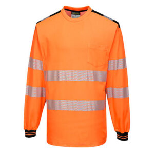 Long Sleeve T-Shirt Two tone Orange