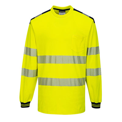 Long Sleeve T-Shirt Two tone Yellow/Black