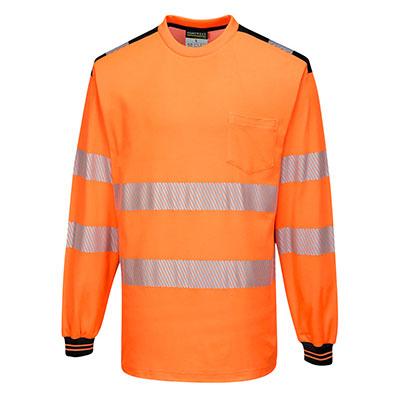 Long Sleeve T-Shirt Two tone Orange